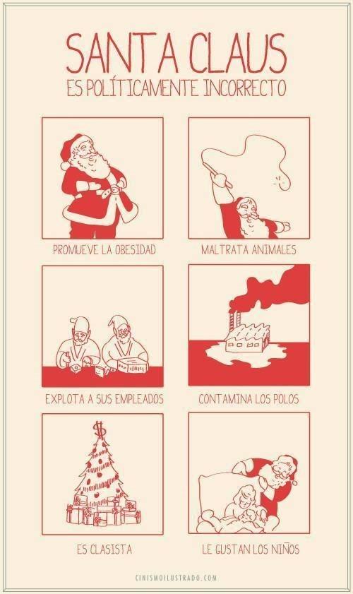 la paradoja de santa claus en navidad