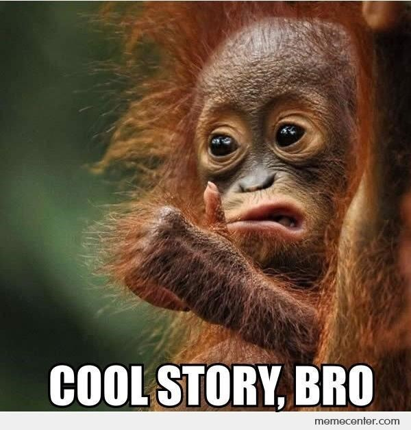 monkey meme with pic of monkey making a face and giving a thumbs up