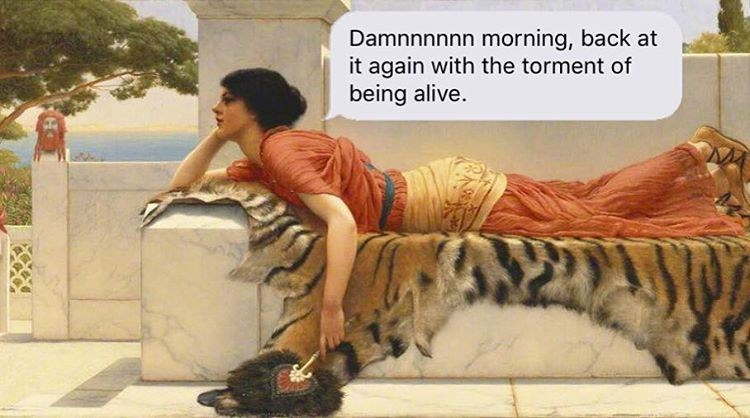 Bengal tiger - Damnnnnnn morning, back at it again with the torment of being alive.