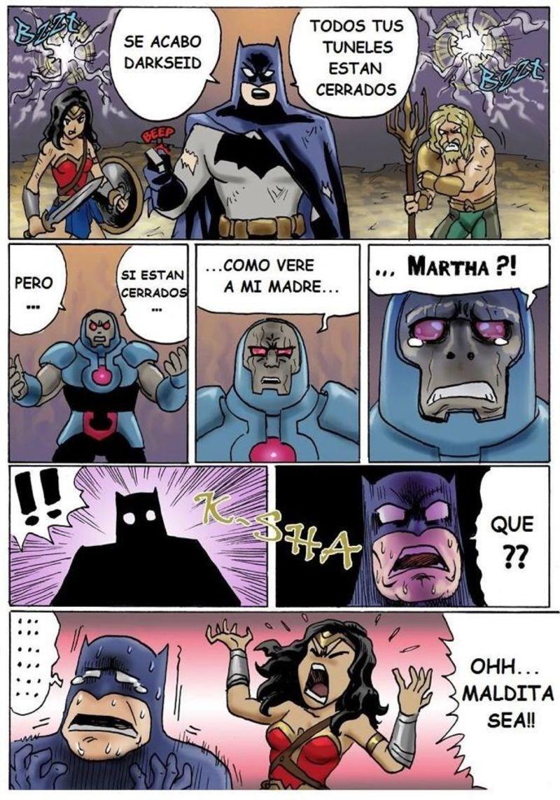 la jla derrota a darkseid pero tiene una mala noticia para batman