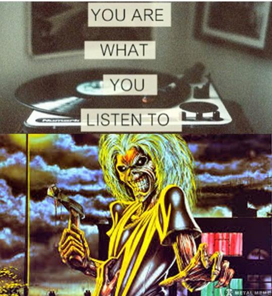 heavy metal meme - Cartoon - YOU ARE WHAT YOU LISTEN TO METAL MEME