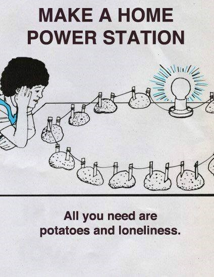 Funny meme about potatoes and loneliness.
