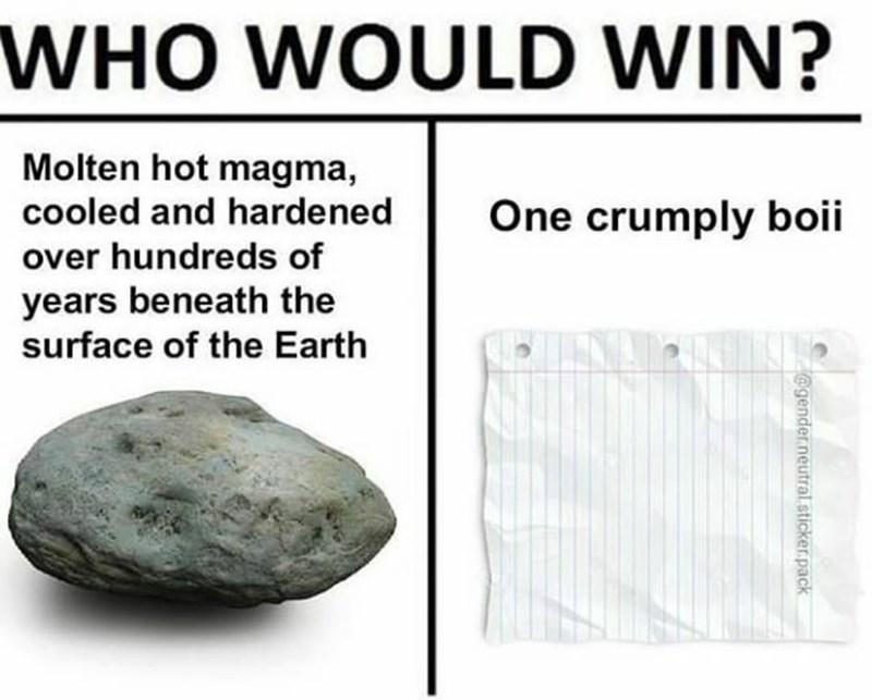 Funny meme about rock paper scissors.