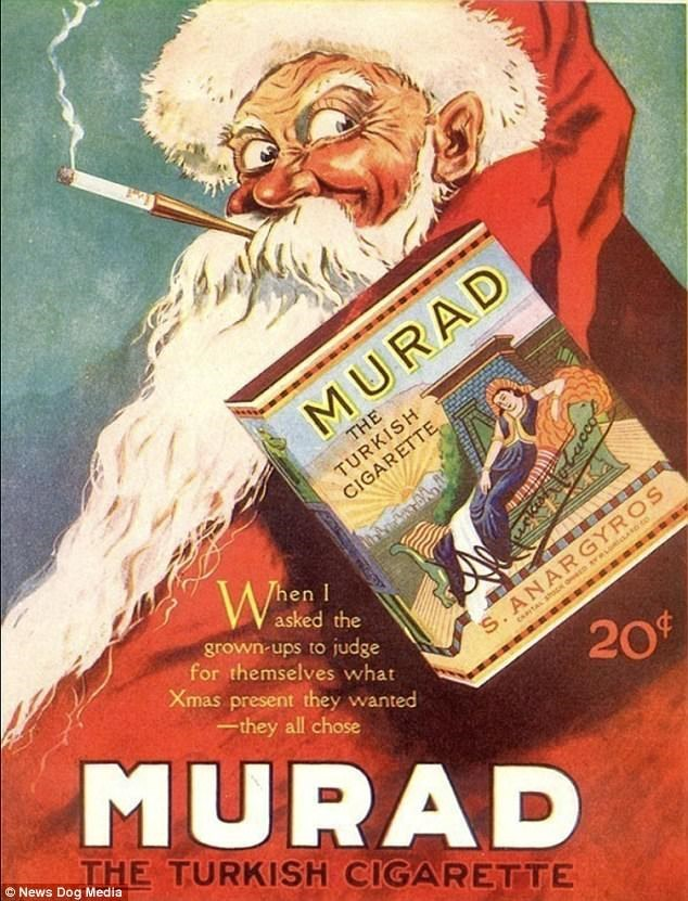 Poster - MURAD THE TURKISH CIGARETTE Then I asked the grown-ups to judge for themselves what Xmas present they wanted S.ANARGYROS 20t MURAD they all chose THE TURKISH CIGARETTE News Dog Media
