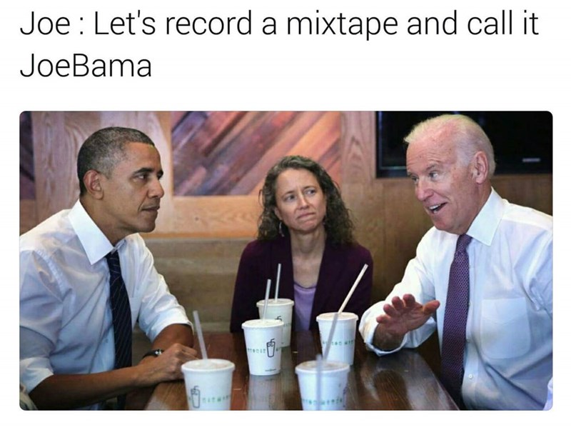 Joe Biden meme about wanting to rap with Obama