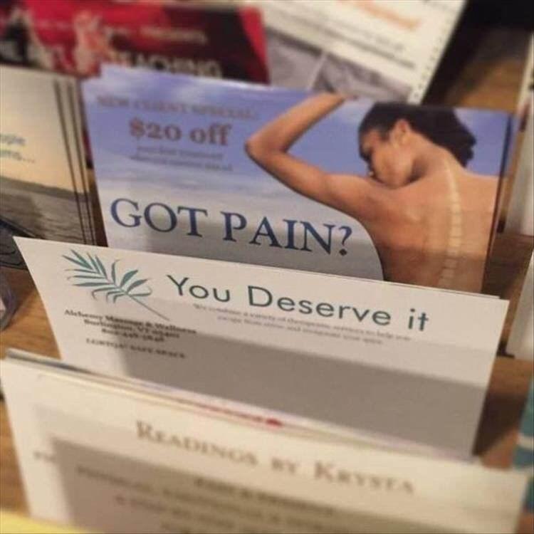 Product - ACENG $20 off GOT PAIN? You Deserve it READINGS Y KRYSTA