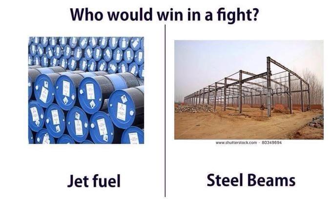 Product - Who would win in a fight? www.shutterstock.com 80349694 Steel Beams Jet fuel