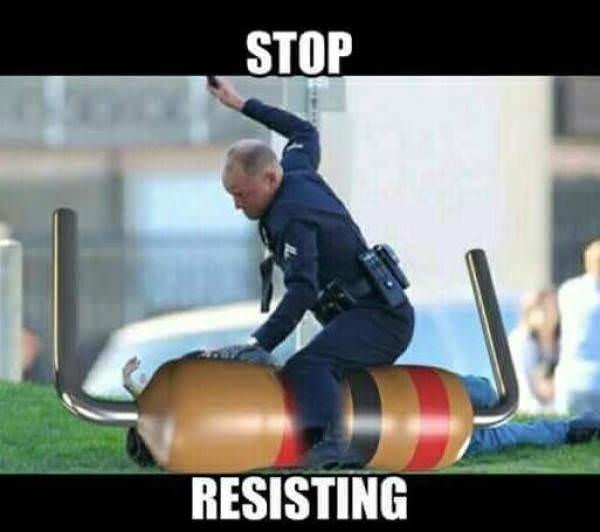 meme - Ball - STOP RESISTING