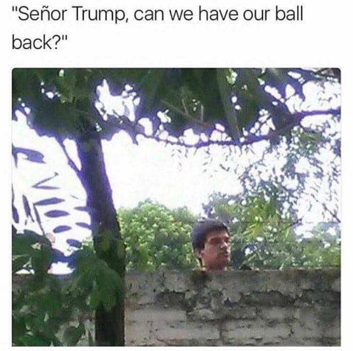 """meme - Tree - """"Señor Trump, can we have our ball back?"""" vitte"""