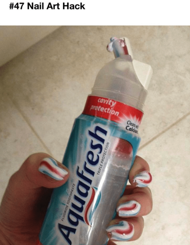 Sports drink - #47 Nail Art Hack cavity protection Cleans Cald Aquafresh FLUORIDE TOOTHPASTE TRIPLE PROTECTION