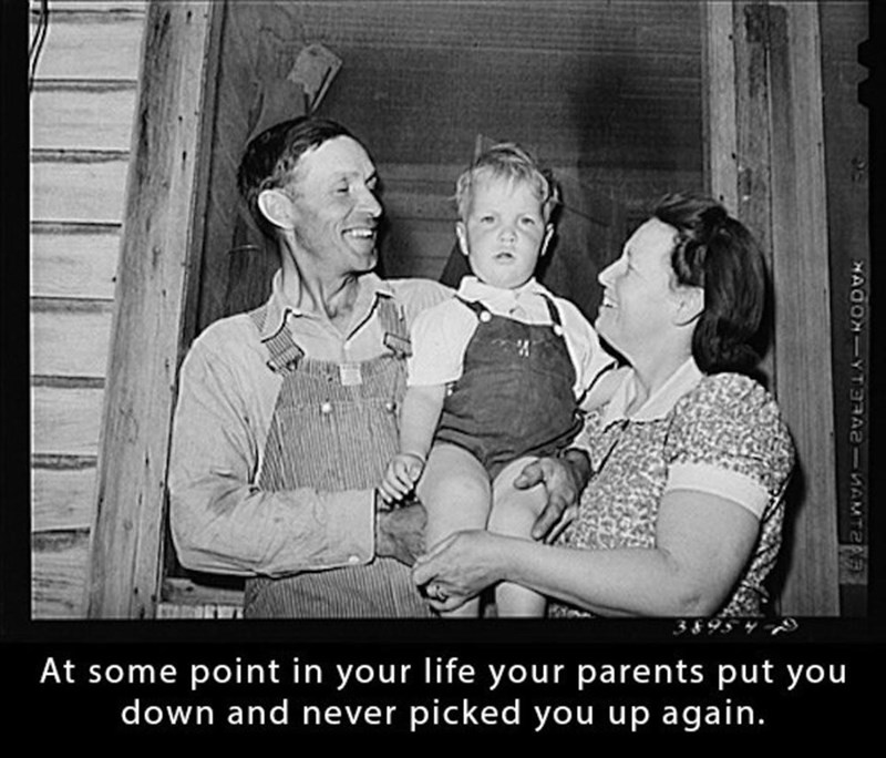 Photograph - At some point in your life your parents put you down and never picked you up again. HAOONI-YATERAISAM