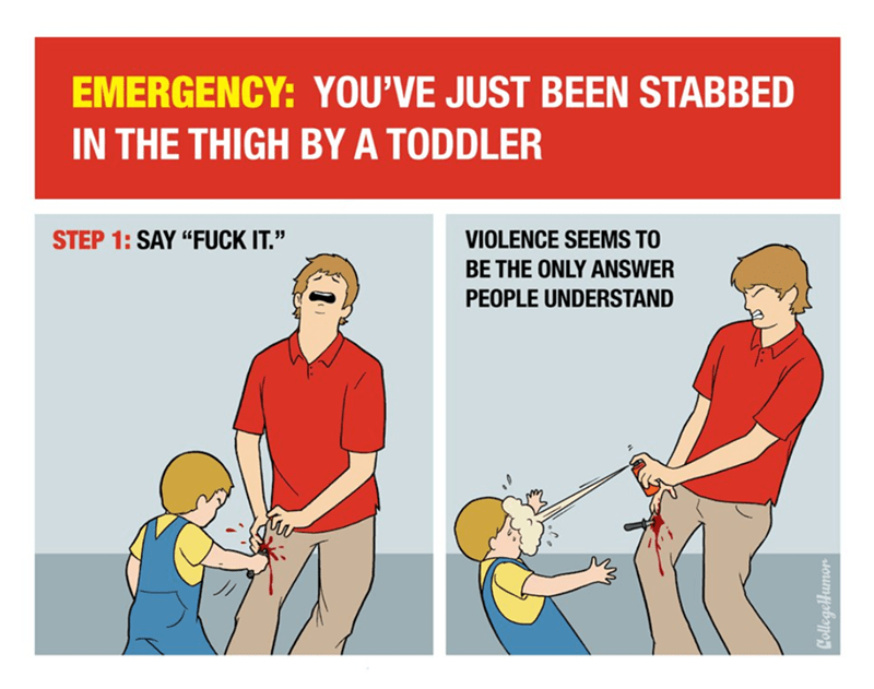 black friday survival guide for when you get stabbed by a toddler