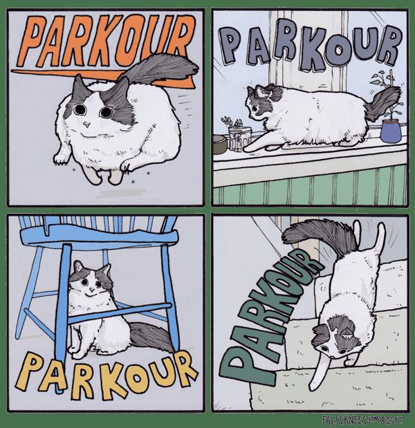 Cartoon - PARKONUR PARKOUR |PARKOUR u FALSEKNEES.LOM@2017 PARKI