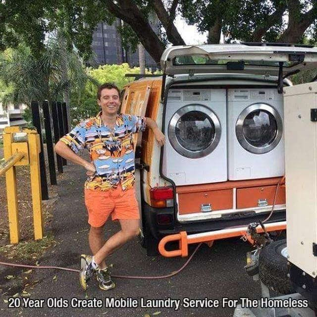 Vehicle - 20 Year Olds Create Mobile Laundry Service For The Homeless
