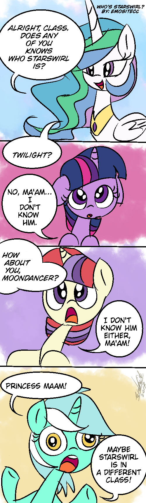 emositecc moon dancer twilight sparkle lyra heartstrings ponify comic princess celestia - 9099269120