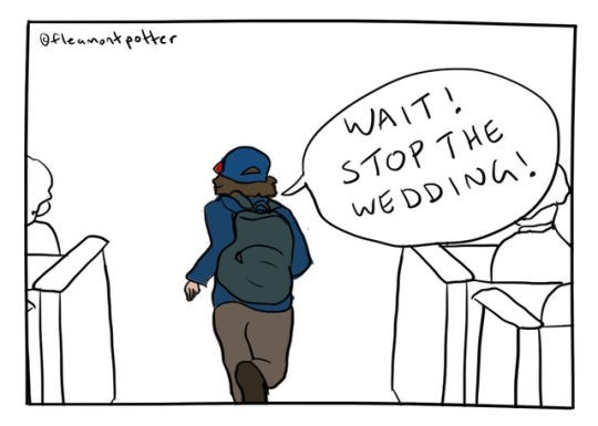 Cartoon - fleanontpotter WAIT! STOP THE WEDDINA