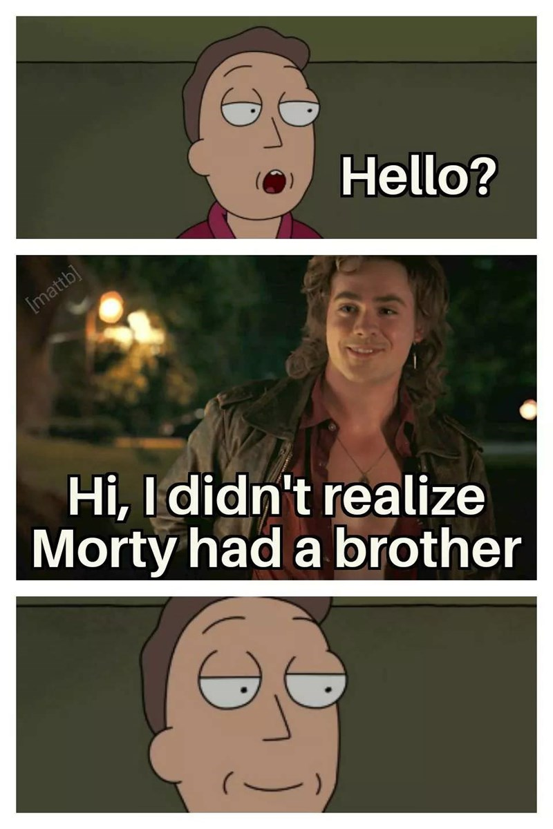 Face - Hello? [mattb] Hi, I didn't realize Morty had a brother