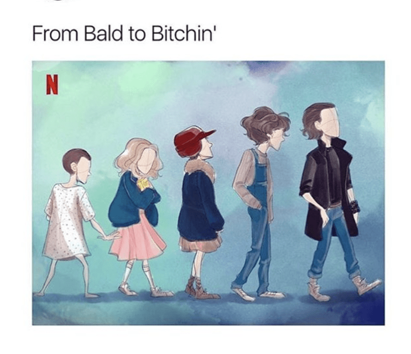 Cartoon - From Bald to Bitchin' N