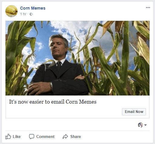 Funny meme about corn memes.