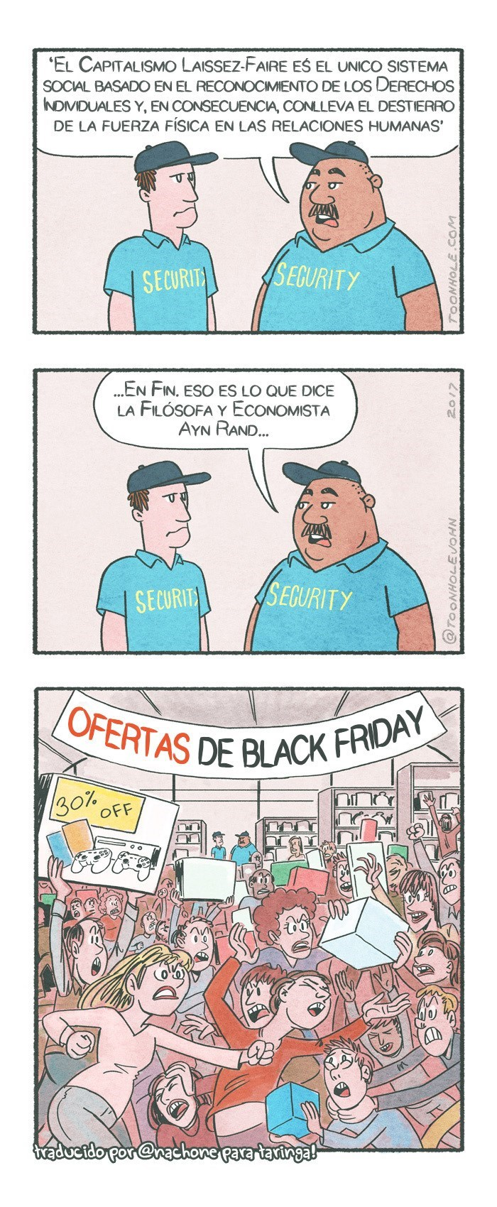 vineta sobre la filosofia y etica en black friday