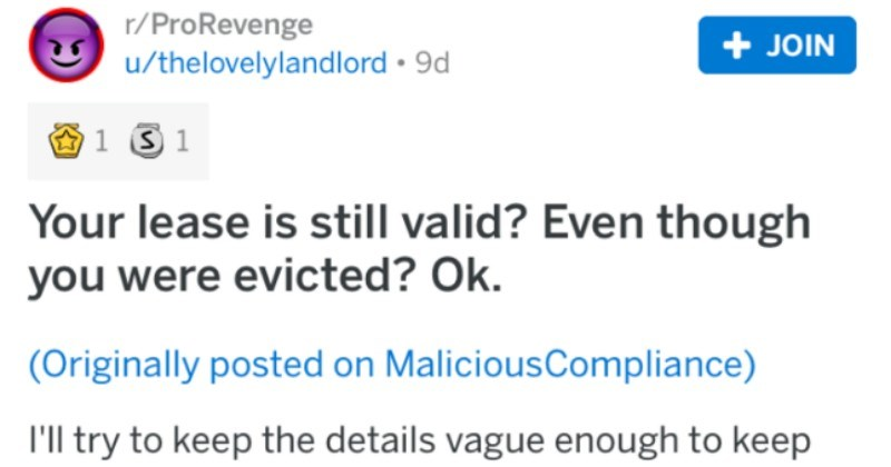 Tenant lies about eviction, tries to say they're still on old lease, and ends up paying $20K.