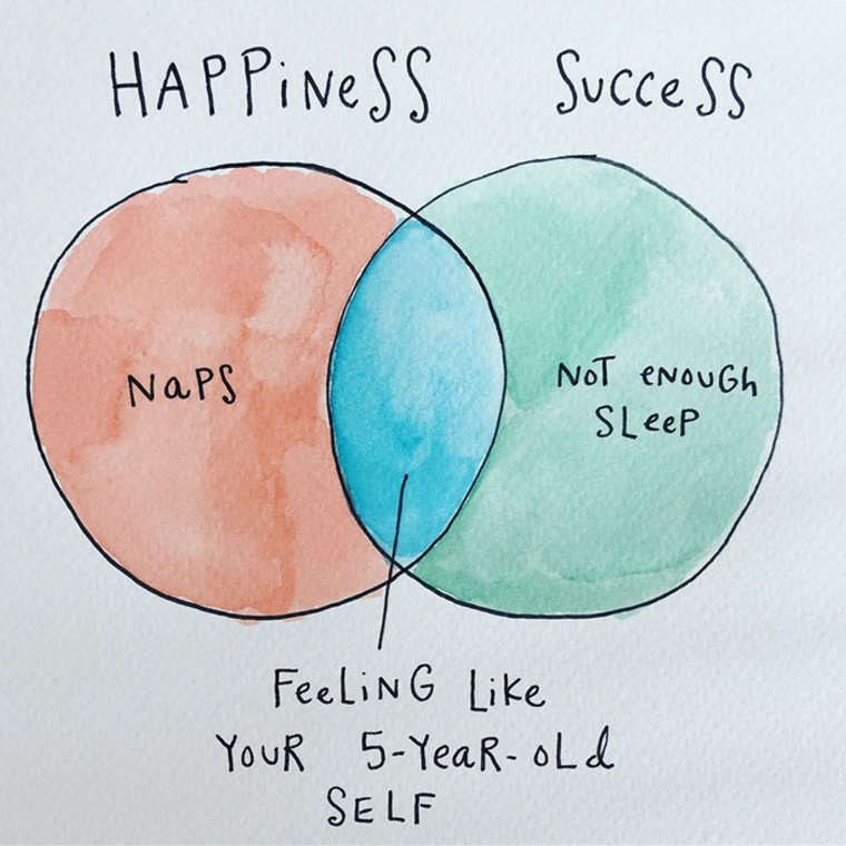 mari andrew webcomic - Text - HAPPINESS Succe SS NoT eNouGh NaPS SLeep FeeliNG Like YouR 5-YeaR- oLd SELF