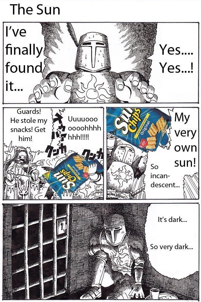 Cartoon - The Sun I've finally found Yes.... Yes...! it... Guards! My Uuuuooo He stole my oooohhhh snacks! Get very Own hh!!! him! sun! So incan- descent... It's dark... So very dark... Original sd