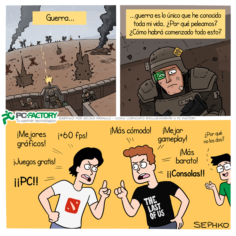 guerra de consolas versus computadores