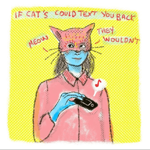 Cartoon - jF CAT S COULD TEXT You RACK THEY WOULDNT MEow