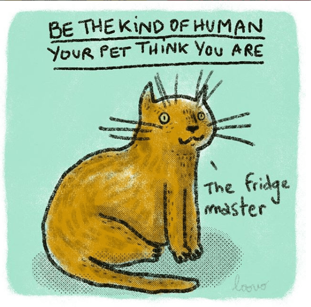 Whiskers - BE THE KIND OF HUMAN YOUR PET THINK You ARE fidge The master