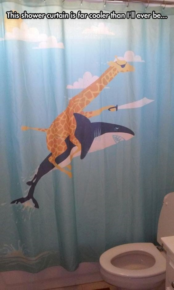 Arm - This shower curtain is far cooler than Hl ever be...