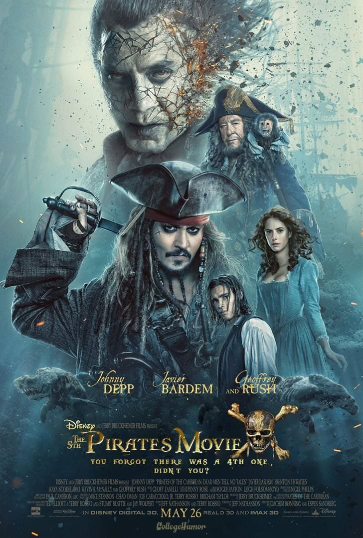 Poster - Johray Geofrey RUSH Ianier BARDEM DEPP AND JESRY BRCKHEMER FILMS ESET PIRATES MOVIE THE STH YOU FORGOT THERE WAS A 4TH ONE DIDN T YOU? DISNEY TEBRY BUCKHEMER FILMS ESEST OHNNY DEPP PIRATES OF THE CARREAN DEAD MEN TELL NO TALES JAVIER RARDEM BRENTION THRUTES KAYA SCODELARIO KEVIN MNALLYAND GEOFFIEY RUSHCEOFF ZANELLI PENNY ROSE ROGER BARTON LEIGH FOLSOMBOYDIGEL PHELPS L CAMERION SCMIKE STENSON CHAD OMAN JOE CARACCIOLO, R. TERY ROSSIO BICHAM TAYLORERY CKHEIMERPIRATES OF THE CARIBBEAN T2D E