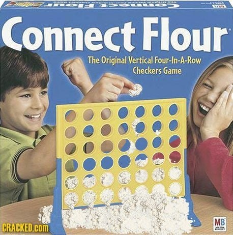 Games - Connect Flour The Original Vertical Four-In-A-Row Checkers Game MB CRACKED.Com