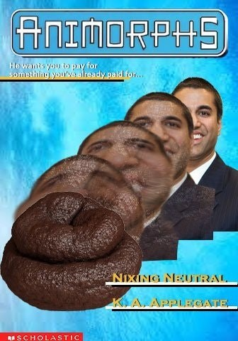 Poster - ANIMORPHS He wants you to pay for 5omething you've already paid for... NIXING NEUTRAL KARAPPLEGATE SCHOLASTIC