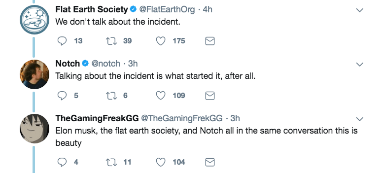 Minecraft creator joining conversation about the Flat Earth theory