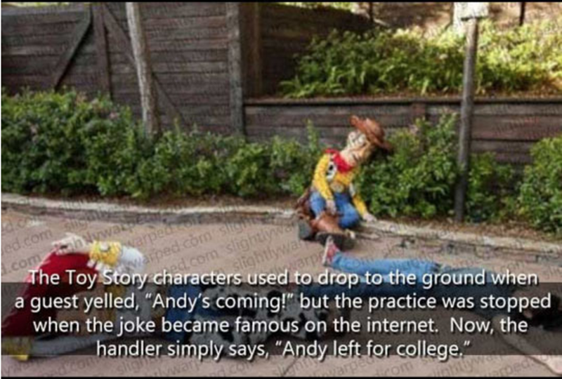 """Soil - ed.com com hNy warped siightlywa The Toy Story characters used to drop to the ground when when the joke became famous on the internet. Now, the d.com slightlywer a guest yelled, """"Andy's coming!"""" but the practice was stopped warped com sts handler simply says, """"Andy left for college"""