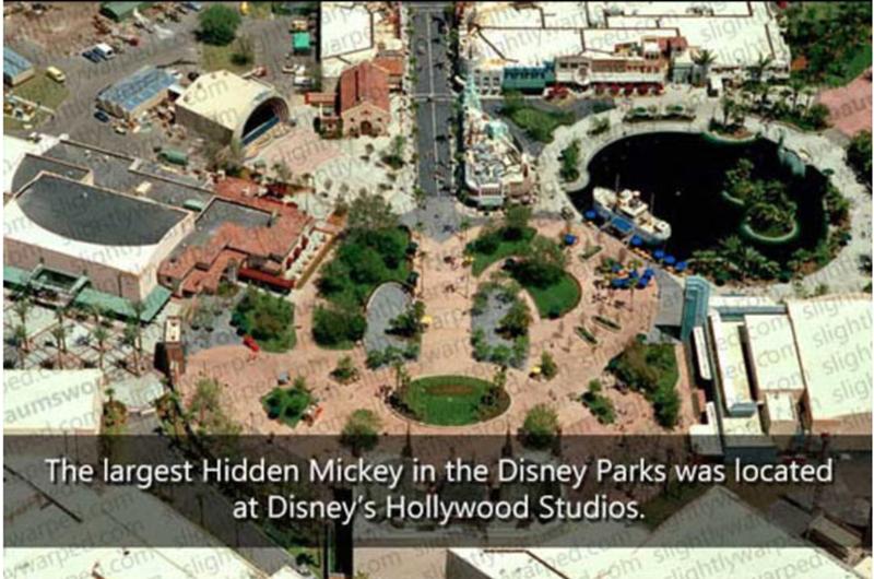 Urban design - arp eom ight auy aumswo The largest Hidden Mickey in the Disney Parks was located on slight slight sligh slig warpe at Disney's Hollywood Studios. ligh ewarp Con rom Shgatlywa inhtlyw