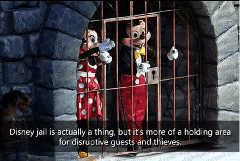 Photography - wespe slight Disney jail is actually a thing, but it's more of a holding area for disruptive guests and thieves. inhtlyw niped