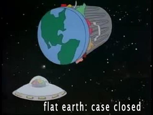 meme about confirming earth is flat
