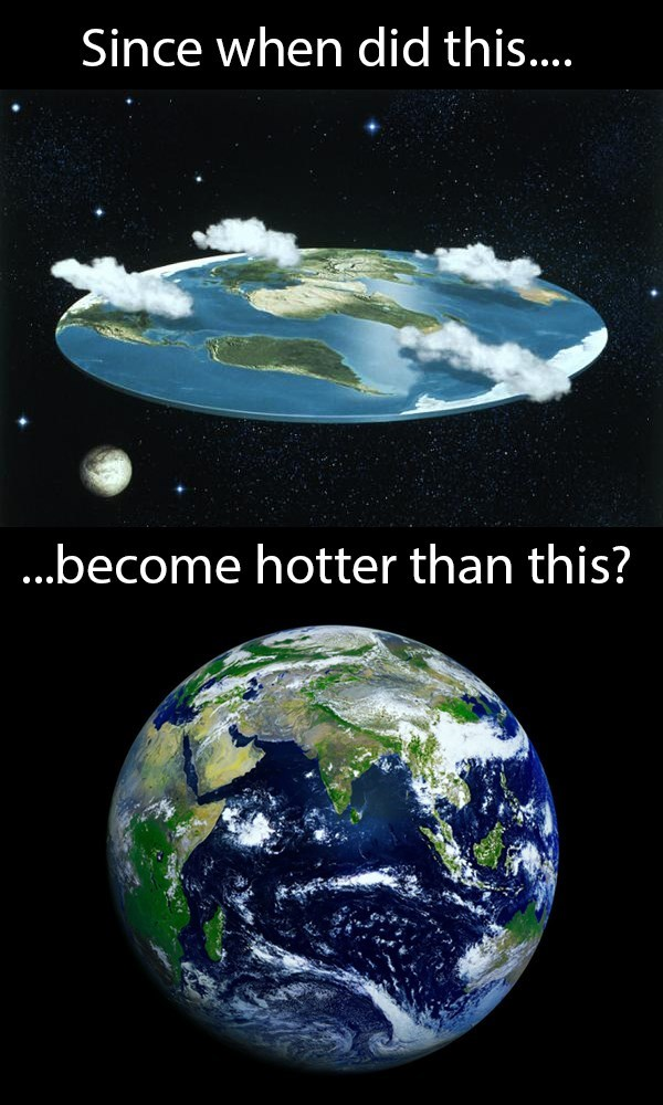 meme about the flat earth society becoming popular