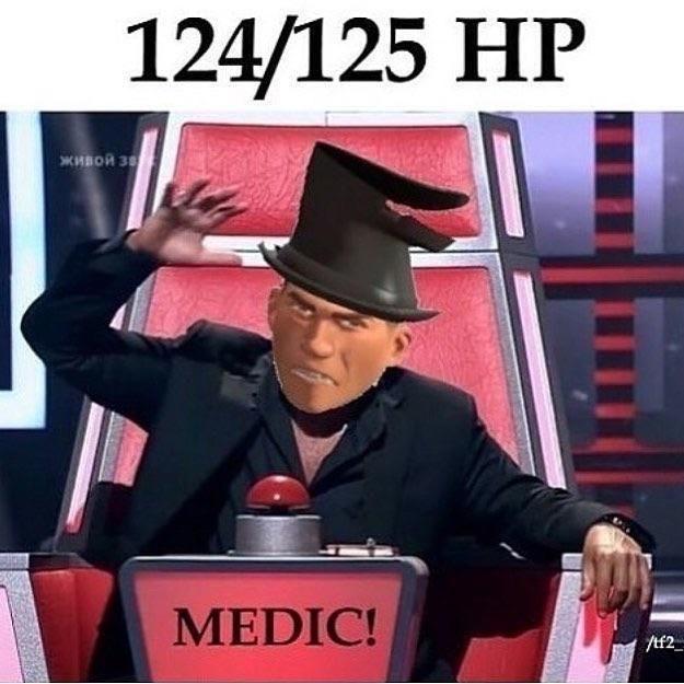 Photo caption - 124/125 НP живой за MEDIC!