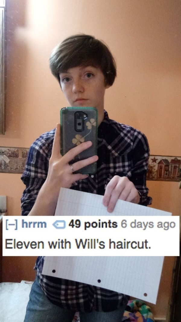 Selfie - H hrrm Eleven with Will's haircut 49 points 6 days ago