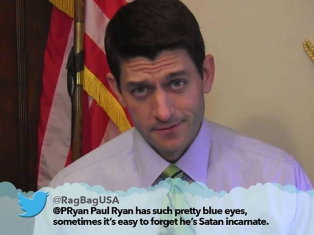 Forehead - @RagBagUSA PRyan Paul Ryan has such pretty blue eyes, sometimes it's easy to forget he's Satan incarnate.
