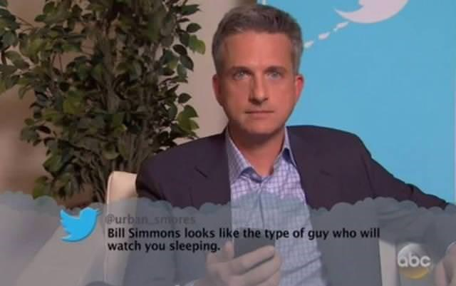 Hair - Purban smores Bill Simmons looks like the type of guy who will watch you sleeping. abc
