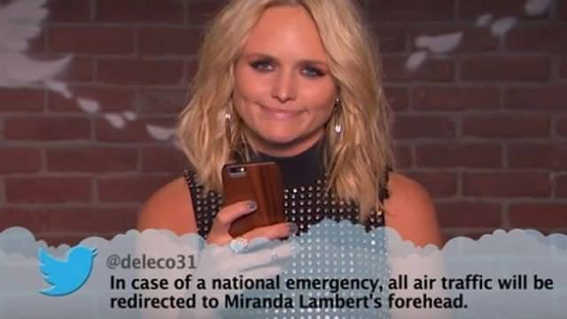 Blond - @deleco31 In case of a national emergency, all air traffic will be redirected to Miranda Lambert's forehead.