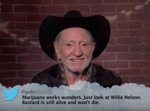 Moustache - @gabi Marijuana works wonders. Just look at Willie Nelson. Bastard is still alive and won't die.
