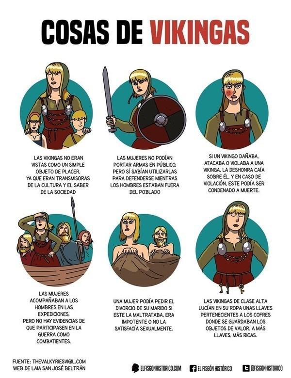 vineta de curiosidad del dia cosas de vikingas