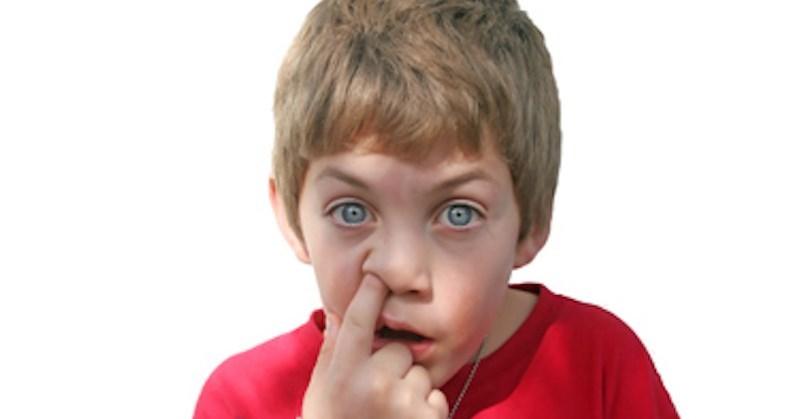 kid picking his nose