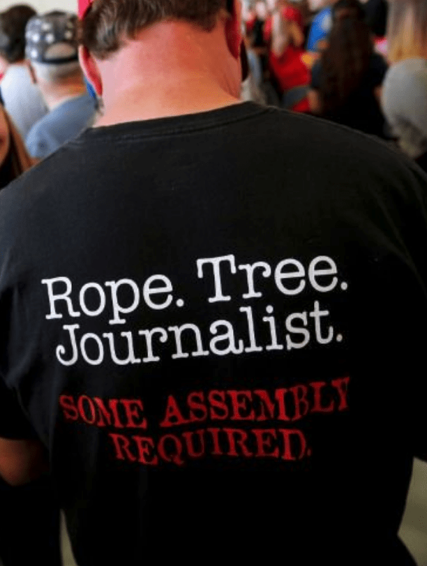 T-shirt - Rope. Tree. JOurnalist. SOME ASSEMBLY REQUIRED
