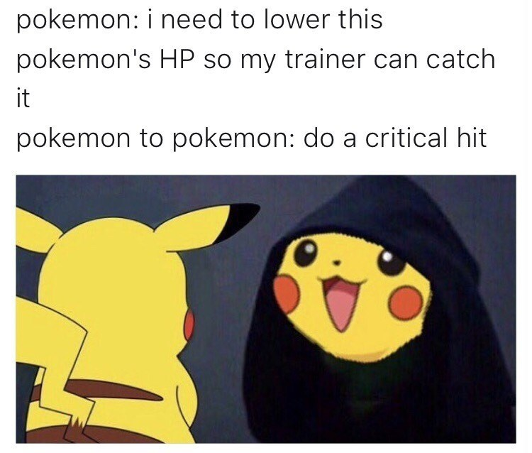 "Funny ""me to me"" meme with Pikachu instead of Kermit."